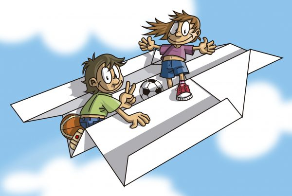 infants avió amb fons